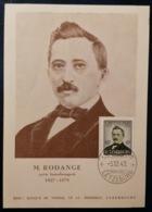 Luxemburg  Mk 1949 M. Rodange Lux. Poet 1827-1876 - Ed. Banque Du Timbre - Maximumkarten