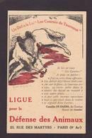CPA Protection Animale Taureau Cheval Horse écrite - Bull