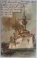Francia 10 - Nave A Marsiglia 1901 - Piroscafi