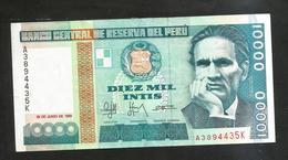 PERU' - BANCO CENTRAL De RESERVA Del PERU' - 10000 INTIS (1988) - Perù