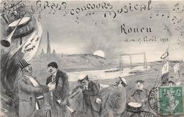 ROUEN - Grand Concours Musical - Août 1913 - Illustrateur Ch. Lévy - Rouen