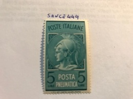 Italy Posta Pneumatica 5L Mnh 1947 - 6. 1946-.. Republic