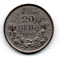 Bulgarie / KM 47 / 20 Leva 1940  / TTB - Bulgarije