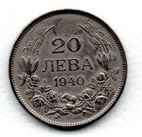Bulgarie / KM 47 / 20 Leva 1940  / TTB - Bulgaria