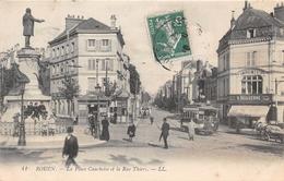 ROUEN - La Place Cauchoise Et La Rue Thiers - Rouen
