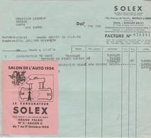 Solex à Neuilly Sur Seine 92 / Carburateur / Vignette Salon Auto 1954 - France