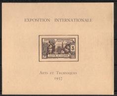 Côte D'Ivoire - 1937 - Bloc Feuillet BF N°Yv. 1 - Exposition Internationale - Neuf Luxe ** / MNH / Postfrisch - Costa De Marfil (1892-1944)