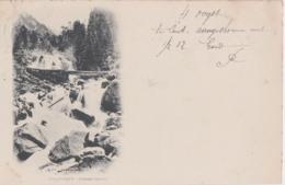 Bx - Cpa CAUTERETS (Hautes Pyrénées) - Cascade Lutour (écrite En 1899, Cachets Gand Et Lourdes) - Cauterets