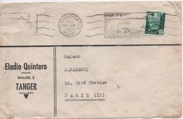 MAROC    LETTRE TIMBREE  ELADIO QUINTERO  WALLER 2 TANGER  CACHET  1955 - Briefe U. Dokumente