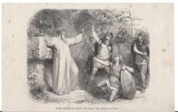 Druide Exitant Les Gaulois à La Guerre - Estampes & Gravures