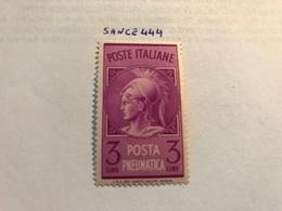Italy Posta Pneumatica 3L Mnh 1947 - 6. 1946-.. Republic
