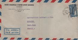 MAROC    LETTRE TIMBREE  SCOMIET  14 RUE MOULAY IDRISS  TANGER  CACHET 1947 - Briefe U. Dokumente