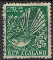 Nouvelle Zélande 1936 Oblitéré Used Bird Oiseau Rhipidura Fuliginosa Rhipidure à Collier SU - Oblitérés