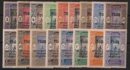 Togo - 1916 - N°Yv. 84 à 100 - Série Complète - Neuf Luxe ** / MNH / Postfrisch - Togo (1914-1960)