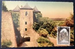 Luxemburg  Mk 1963 Melusina, Tor Der 3 Türme, Porte Des 3 Tours - Maximumkarten