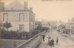 45 /  Varennes  :  Route D'Ouzouer Des Champs  Attelage De Chien    /////   Ref. FEV. 20  ////  BO. 45 - Frankrijk