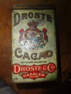Boite Ancienne CACAO DROSTE & Co  - HAALEM Hollande - Autres Collections