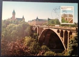Luxemburg  Mk 1977 Europa Cept - Pont Adolphe Et Caisse D'Épargne - Maximumkarten