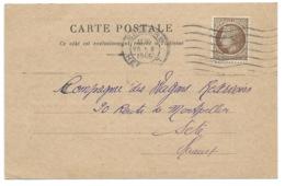 2f50 MAZELIN SUR CARTE POSTALE / BEZIERS / SNCF AVARIES DE WAGON 1946 - Marcophilie (Lettres)