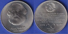 DDR 1983 -  20 Marchi - Gedenkmünze Karl Marx - Zonder Classificatie