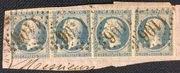 Timbre De France Classique N°22x4 Obl GC 1106 Condé-sur-Noireau 13 - 1849-1876: Classic Period