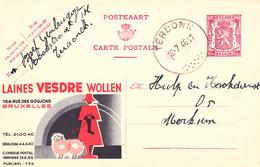B11 - Entier Postal - Carte Publibel N° 746 - Vesdre Laines - Initiales Du Facteur - Voir Photo Pour Détails - Publibels