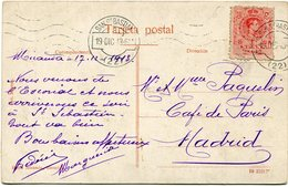 ESPAGNE CARTE POSTALE  -EL ESCORIAL PANTEON DE PARVULOS DEPART SAN SEBASTIAN 19 DIC 13 POUR L'ESPAGNE - Cartas