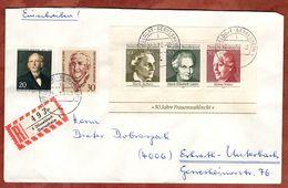 Einschreiben Reco, Block Frauenwahlrecht U.a., Duesseldorf-Gerresheim Nach Erkrath 1970 (91231) - BRD