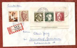 Einschreiben Reco, Block Frauenwahlrecht U.a., Duesseldorf-Gerresheim 1970 (91232) - BRD