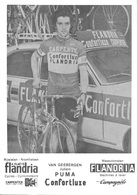 CARTE CYCLISME JULIEN VAN GEEBERGEN TEAM CARPENTER FLANDRIA 1975 - Radsport