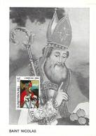 Luxembourg  -  1980 . Caritas  Saint Nicolas,évêque - Cartes Maximum