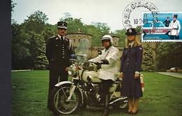 Luxembourg  -   10.3.1980  -  50ieme Anniversaire Du Corps De La Police - Edit. Rottigni , Luxembg Photo A. R. - Cartes Maximum