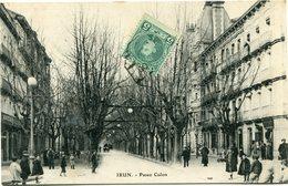 ESPAGNE CARTE POSTALE  -IRUN -PASEO COLON DEPART ? ?-?-? POUR LA FRANCE - Brieven En Documenten