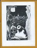 Ex-libris Belgian Writers' Association. Foulon Roger. Cannon. Ex-libris L'Association écrivains Belges. Exlibris - Ex-libris