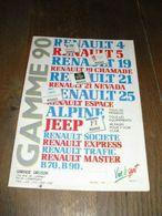 RENAULT Gamme 1990 Brochure 46 Pages - Publicités