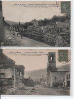 Ruines De Haybes Lot De 2 CPAs - Frankreich