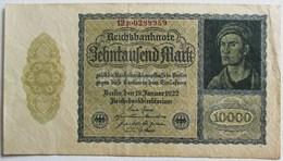 BILLET DE 10000 MARK BERLIN 1922 REICHSBANKNOTE REPUBLIQUE DE WEIMAR ALLEMAGNE PRUSSE - 10000 Mark