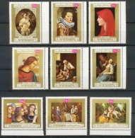 272 - Yemen Kingdom MNH ** Mi N° 717 / 725 A Tableau (tableaux Painting) Peinture (painting  Rubens Raphael Murillo - Yémen