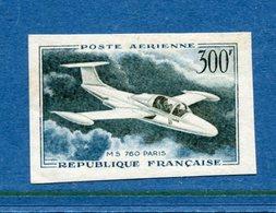 France Non Dentelé - YT PA N° 35 - Poste Aérienne - Neuf Sans Charnière - Luxe - 1957 à 1959 - No Dentado