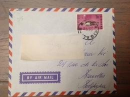 LetDoc. 482. Y&T 75 Sur Lettre Vers La Belgique. Cover. - Rwanda