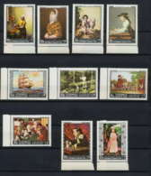 273c - Yemen Kingdom MNH ** Mi N° 557 / 566 A Tableau (tableaux Painting) Vermeer Copley Murillo Van Leyden Goya Aylward - Yémen