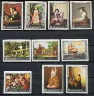 274b - Yemen Kingdom MNH ** Mi N° 557 / 566 B Tableau (tableaux Painting) Vermeer Murillo Leyden Goya Non Dentelé Imperf - Yémen