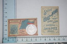 Chromos Savon étoile Du Nord Louis Pitz Anvers Timbre Monnaie Drapeau N° 58 Finlande - Kaufmanns- Und Zigarettenbilder