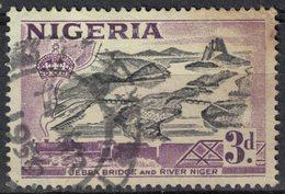 Nigeria 1958 Oblitéré Used Pont Jebba Bridge Et Fleuve Niger River SU - Nigeria (1961-...)