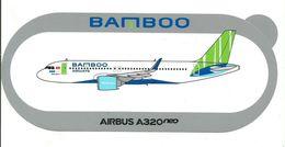 AUTOCOLLANT, Sticker «AIRBUS A320 Neo BAMBOO » (avion)  en L Etat Sur Les Photos - Stickers