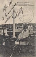 Cachet Armée D'Orient Parc De L'armée Génie CAD 18 2 1916 CPA Souvenir De Salonique Eglise Saint Panthéléon Mosquée - Guerre De 1914-18
