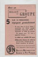 SNCF Billet De Groupe - Werbung