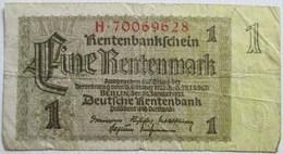 BILLET 1 EINE RENTENMARK ALLEMAGNE BERLIN 30 JANVIER 1937 TROISIEME REICH - Otros