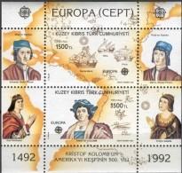 Cept 1992 Turks Cyprus Chypre Turc Yvertn° Bloc  10 *** MNH Cote 10 Euro - Chypre (Turquie)