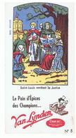 Buvard N°5 VAN LYNDEN Le Pain D'épices Des Champions Saint-Louis Rendant La Justice - Pain D'épices